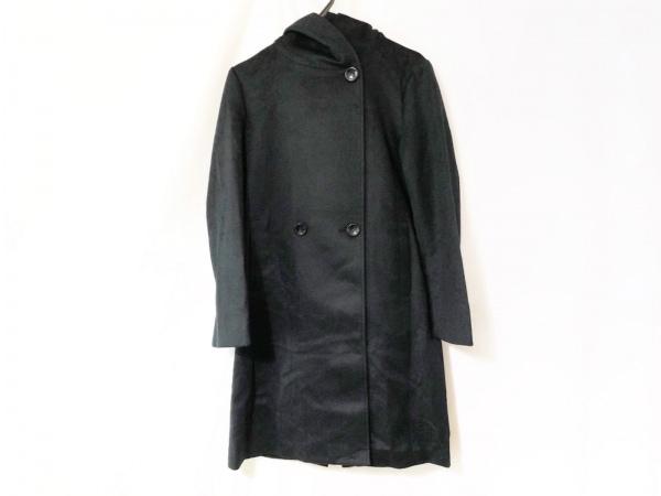 ロペ コート サイズ38 M レディース ダークネイビー フード/フェイクスエード/冬物