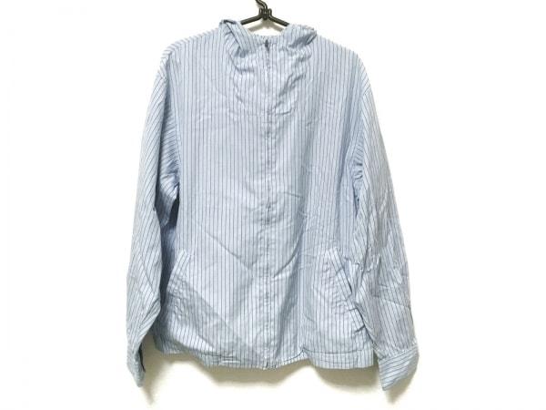コムデギャルソンシャツ ブルゾン サイズS レディース ライトブルー×白×ブルー