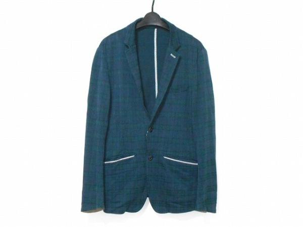 MEN'SBIGI(メンズビギ) ジャケット サイズ4 XL メンズ グリーン チェック柄