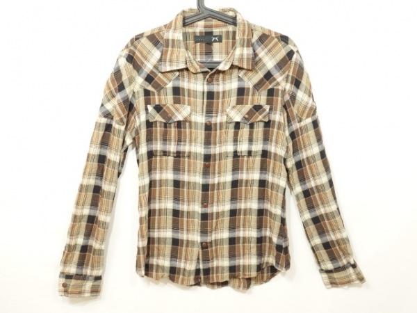 roar(ロアー) 長袖シャツ サイズ3 L メンズ美品  ベージュ×ダークブラウン×マルチ