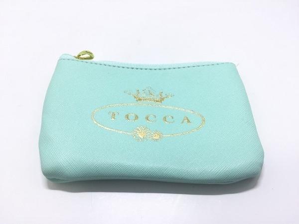 TOCCA(トッカ) ポーチ美品  エメラルドグリーン キーリング付き PVC(塩化ビニール)