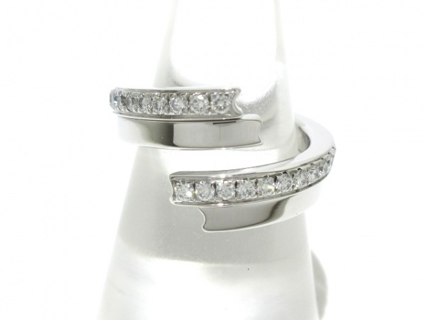 CHAUMET(ショーメ) リング 54美品  フリソン K18WG×ダイヤモンド ハーフダイヤ