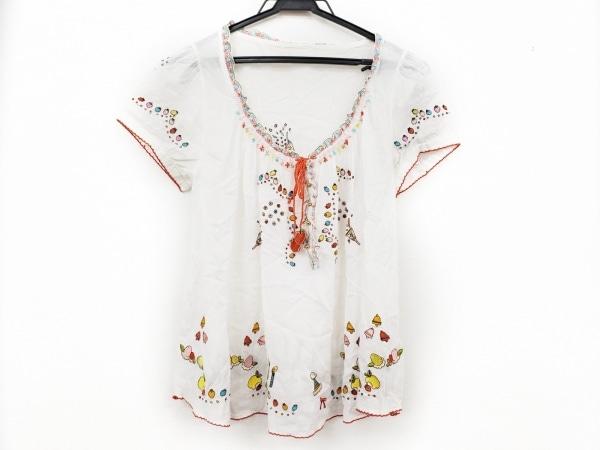 フランシュリッペ チュニック サイズM レディース美品  白×レッド×マルチ 刺繍