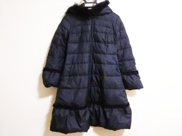 トッカ ダウンコート サイズ0 XS レディース  黒 冬物/ダブルジップ/フリル