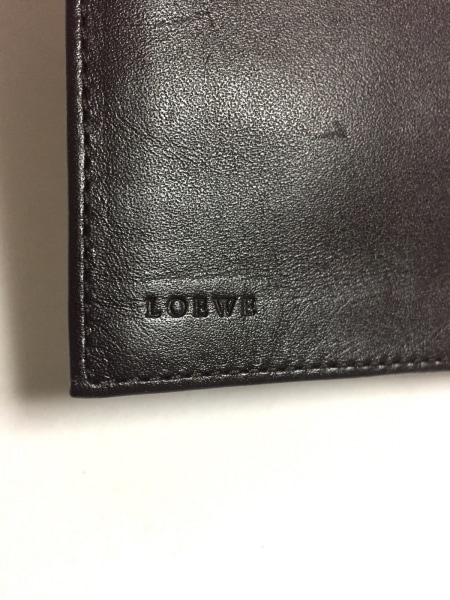 LOEWE(ロエベ) 長財布 アナグラム柄 白×ライトグレー×ダークブラウン