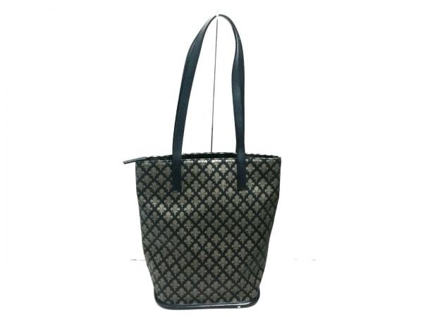 パトリックコックス ショルダーバッグ美品  黒×ブラウン PVC(塩化ビニール)×レザー