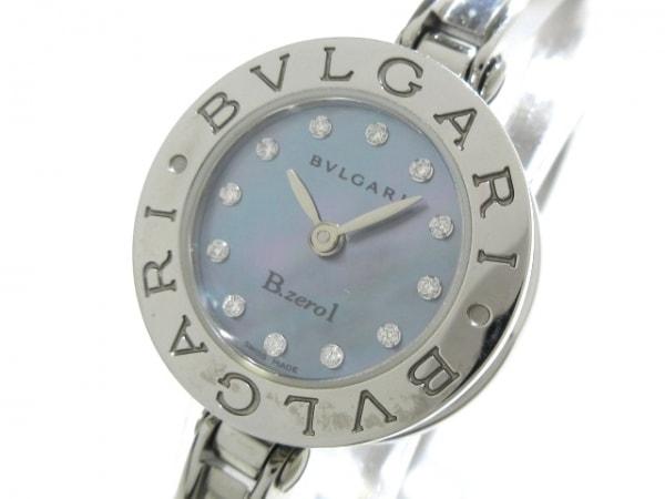 ブルガリ 腕時計 B-zero1 BZ22S レディース SS/12Pダイヤ/シェル文字盤 ブルーシェル