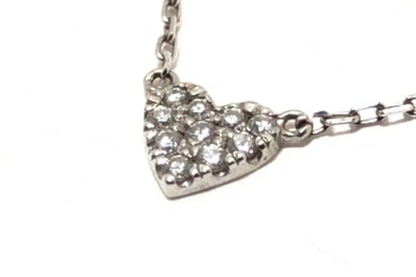 AHKAH(アーカー) ネックレス K18WG×ダイヤモンド