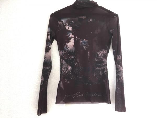 ゴルチエ 長袖Tシャツ サイズ4 XL レディース美品  ボルドー×ネイビー×マルチ