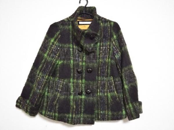 LALLEGRO(ラレグロ) コート サイズ38 M レディース美品  グリーン×黒×マルチ 冬物