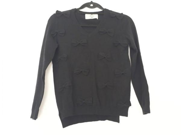 kaon(カオン) 長袖セーター サイズF レディース 黒 リボン