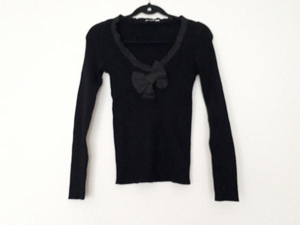 モスキーノ チープ&シック 長袖セーター サイズ38 S レディース 黒 リボン