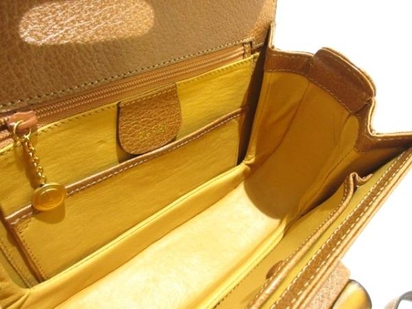 GUCCI(グッチ) ハンドバッグ美品  バンブー - ブラウン レザー