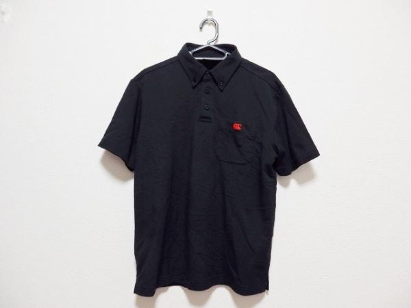 カンタベリーオブニュージーランド 半袖ポロシャツ サイズM メンズ 黒×レッド