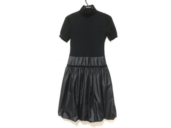 アンレクレ ワンピース サイズ38 M レディース美品  黒 ハイネック/バルーンスカート