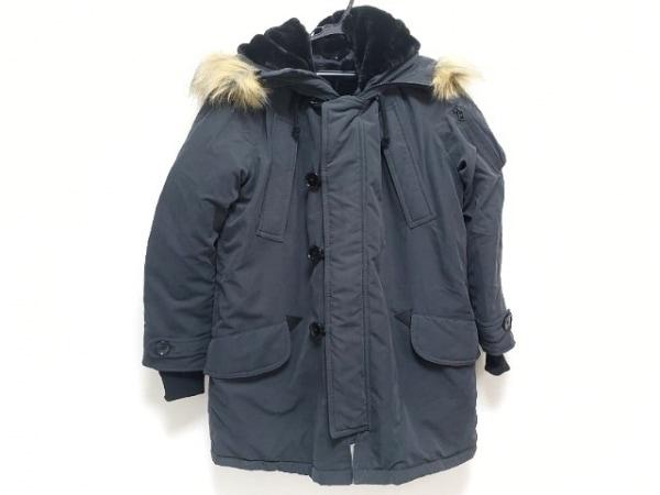 moussy(マウジー) コート サイズ2 M レディース ダークグレー×黒 冬物