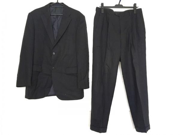 ゴタイリク シングルスーツ サイズ6M メンズ 黒 ストライプ/肩パッド