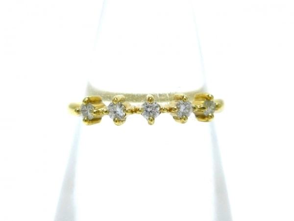 AHKAH(アーカー) リング美品  K18YG×ダイヤモンド 5Pダイヤ/0.09カラット