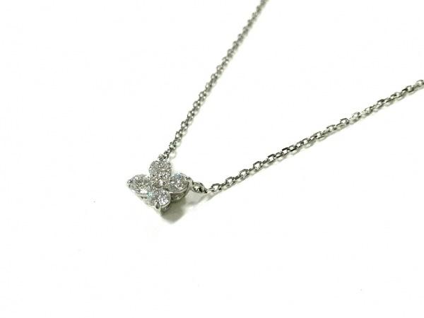 4℃(ヨンドシー) ネックレス美品  Pt850×ダイヤモンド 5Pダイヤ/総重量1.8g