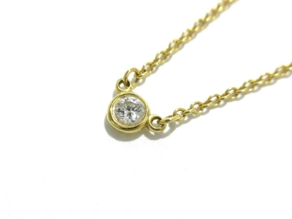 TIFFANY&Co.(ティファニー) ネックレス美品  バイザヤード K18YG×ダイヤモンド