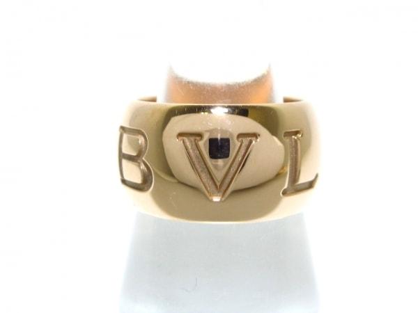 BVLGARI(ブルガリ) リング 50美品  モノロゴ K18PG