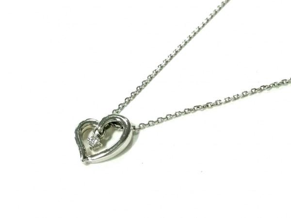 ヨンドシー ネックレス美品  K10YG×ダイヤモンド 1Pダイヤ/約0.03カラット/ハート