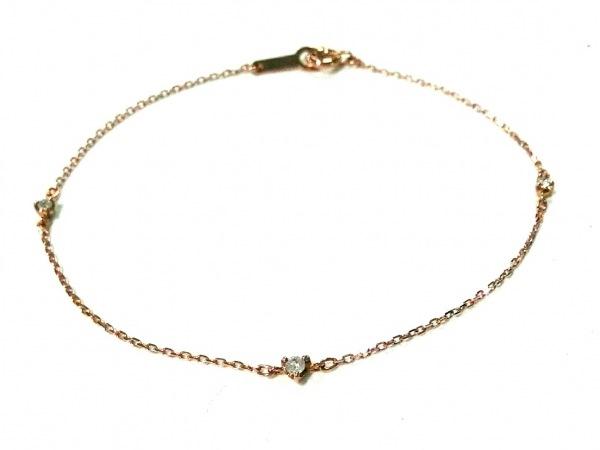 4℃(ヨンドシー) ブレスレット美品  K10PG×ダイヤモンド 3Pダイヤ