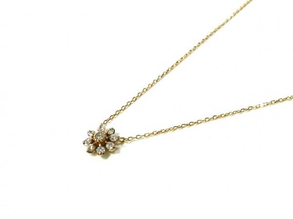 ポンテヴェキオ ネックレス美品  K10YG×ダイヤモンド ダイヤ0.08カラット
