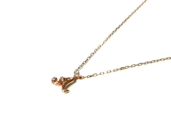 4℃(ヨンドシー) ネックレス美品  K10PG×ダイヤモンド