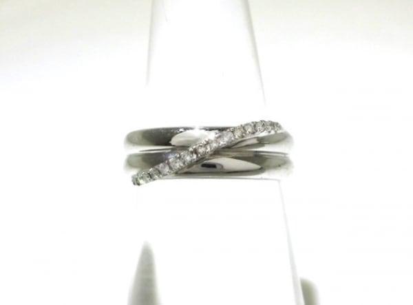 ポンテヴェキオ リング美品  K18WG×ダイヤモンド ダイヤ0.08カラット/総重量4.8g