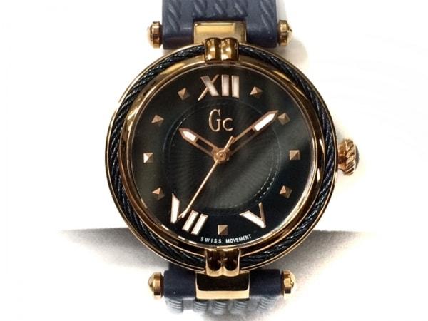 Gc(ジーシー) 腕時計美品  Y18005L7/01 レディース ラバーベルト ネイビー