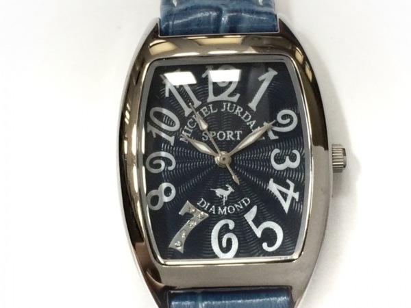 ミッシェルジョルダン 腕時計美品  SL-1000 レディース 型押し革ベルト