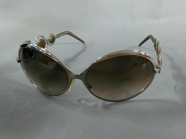 ロベルトカヴァリ サングラス美品  442S ブラウン×シルバー プラスチック×金属素材