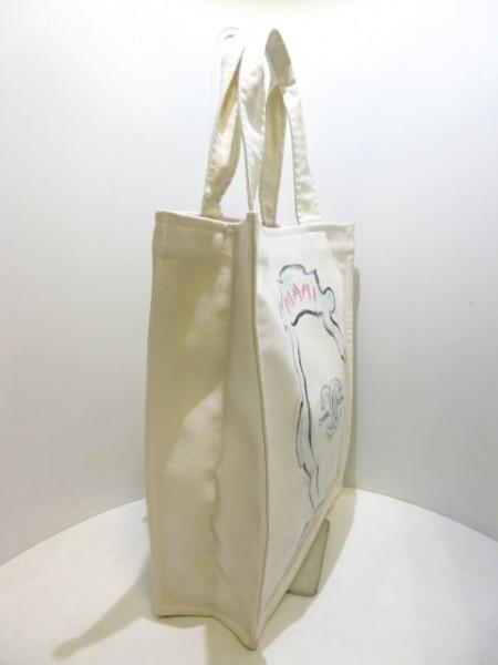 CHANEL(シャネル) トートバッグ美品  マイアミ アイボリー×黒×マルチ キャンバス