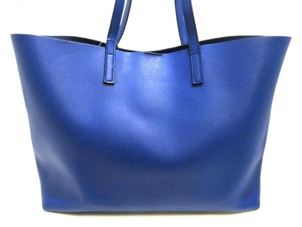 サンローランパリ トートバッグ美品  ショッピング 394195 ブルー レザー