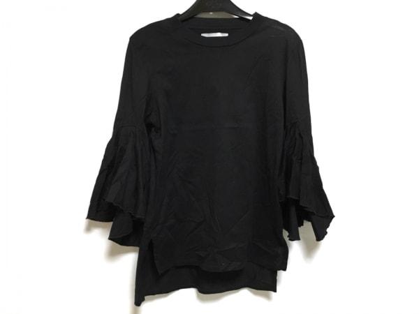 FACETASM(ファセッタズム) 七分袖カットソー サイズ2 M レディース 黒 フリル