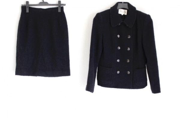 LANCETTI(ランチェッティ) スカートスーツ レディース 黒 肩パッド