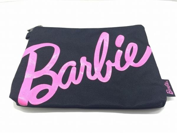 Barbie(バービー) ポーチ美品  黒×ピンク ナイロン