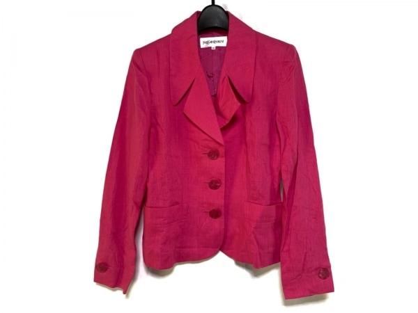 イヴサンローラン ジャケット サイズ34 S レディース美品  ピンク 肩パッド