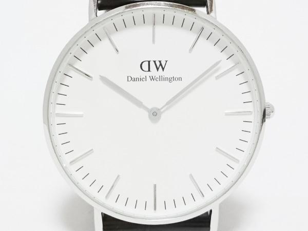 Daniel Wellington(ダニエルウェリントン) 腕時計 - メンズ 革ベルト/型押し加工 白