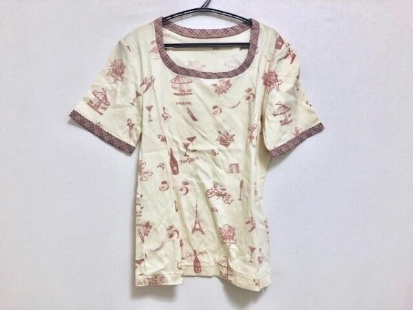 INGEBORG(インゲボルグ) 半袖Tシャツ サイズM レディース アイボリー×ピンク