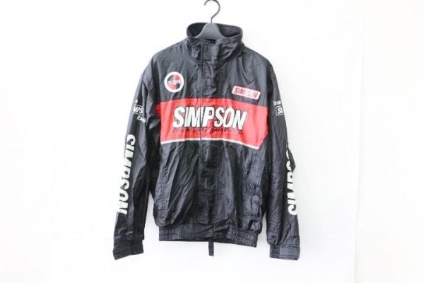 simpson(シンプソン) ブルゾン サイズM メンズ 黒×白×レッド