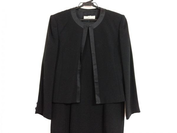 Tokyo Soir(トウキョウソワール) ワンピーススーツ サイズ13 L レディース美品  黒