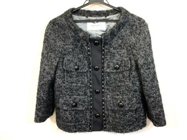 ADORE(アドーア) ジャケット サイズ38 M レディース 黒×グレー スパンコール