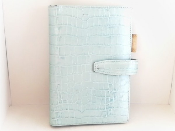 Franklin Covey(フランクリンコヴィー) 手帳 ライトブルー 型押し加工 レザー
