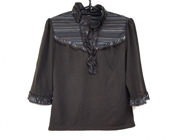 ROCHAS(ロシャス) 七分袖カットソー サイズ9 M レディース美品  肩パッド/レース
