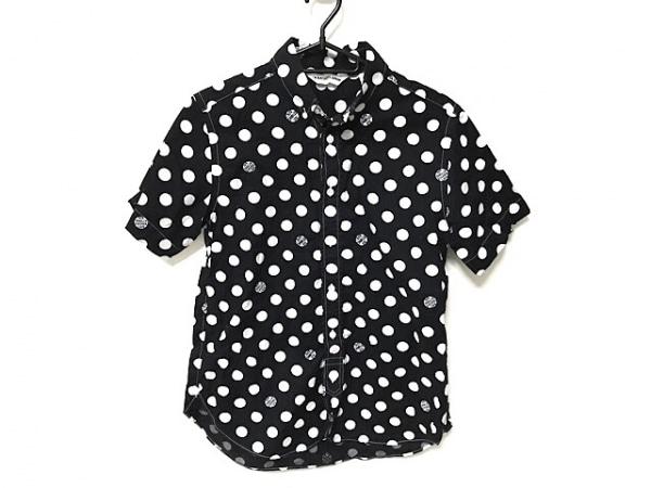 A BATHING APE(ア ベイシング エイプ) 半袖シャツ サイズS メンズ 黒×白 ドット柄
