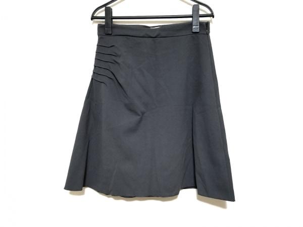 アルマーニコレッツォーニ スカート サイズ42 M レディース美品  ダークグレー
