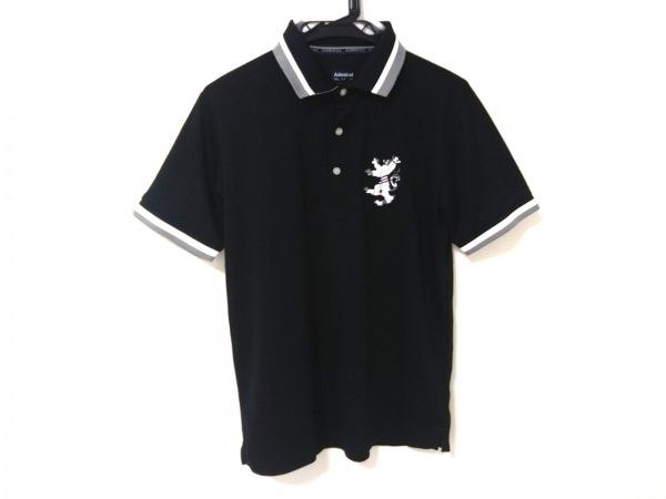 Admiral(アドミラル) 半袖ポロシャツ メンズ美品  黒×白×グレー 刺繍