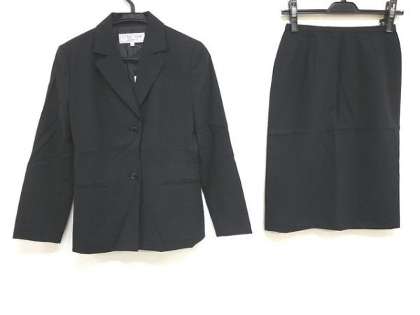 22OCTOBRE(ヴァンドゥ オクトーブル) スカートスーツ サイズ36 S レディース 黒